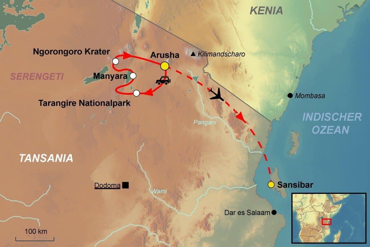 Serengeti National Park >> Tansania Rundreise - Serengeti Ngorongorokrater - Jet Reisen
