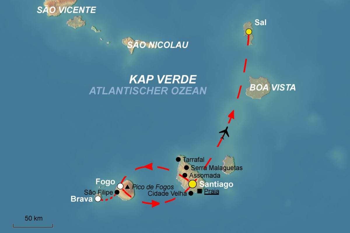 Wo Liegt Kapverden Karte.Kapverden Gruppenreise Wandern Im Sudens Vom Spezialist