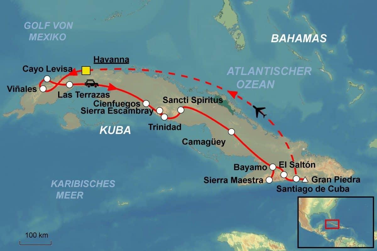 Kuba Karte Rundreise.Kuba Rundreise Kuba Erwandern Vom Spezialisten Jet Reisen