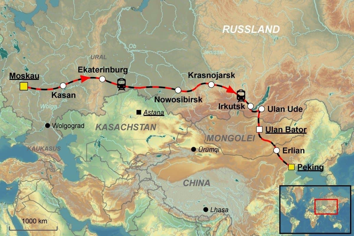 Mongolei Bahnreise