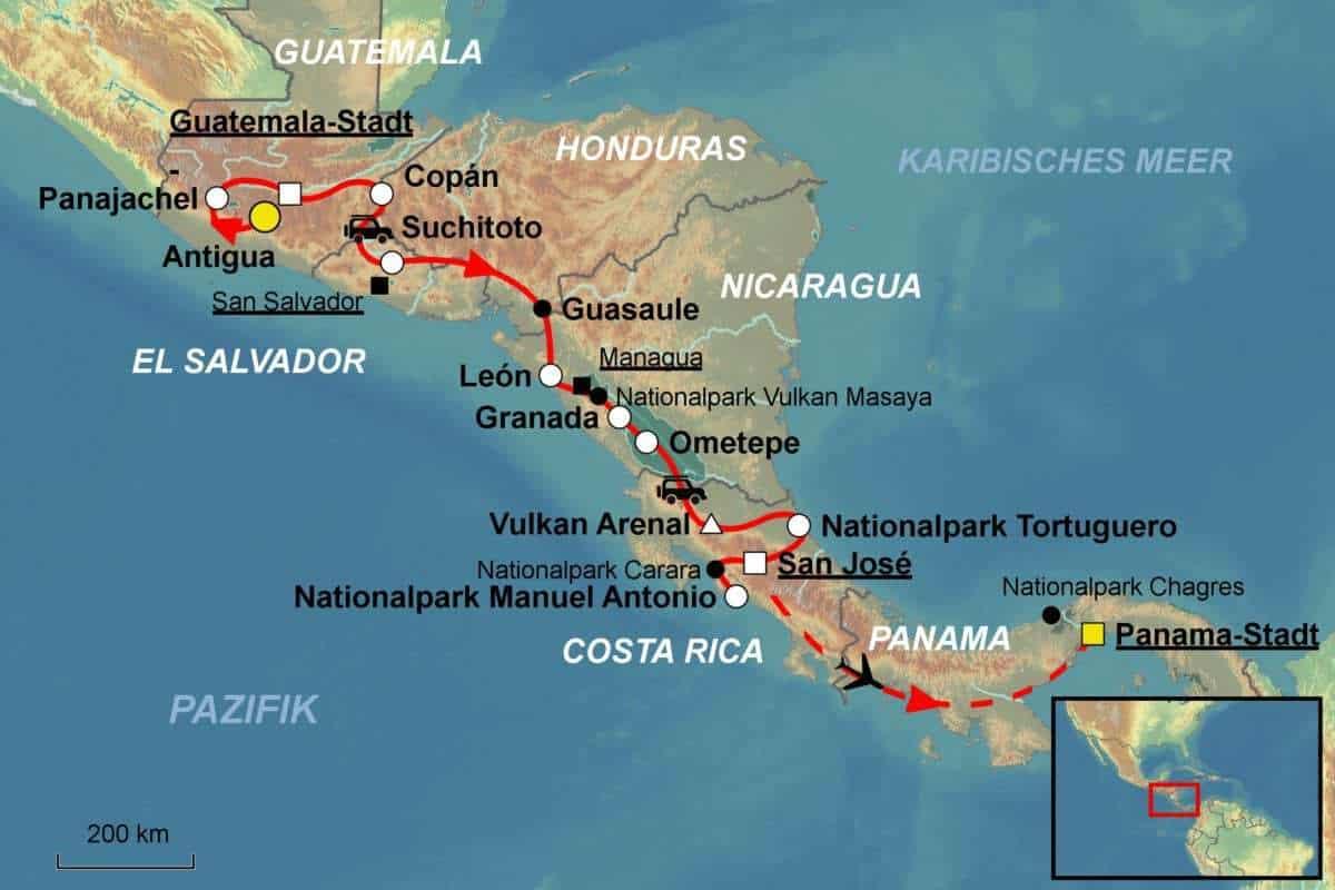 Costa Rica Karte Mittelamerika.Costa Rica Mittelamerika Rundreise Vom Spezialisten Jet Reisen