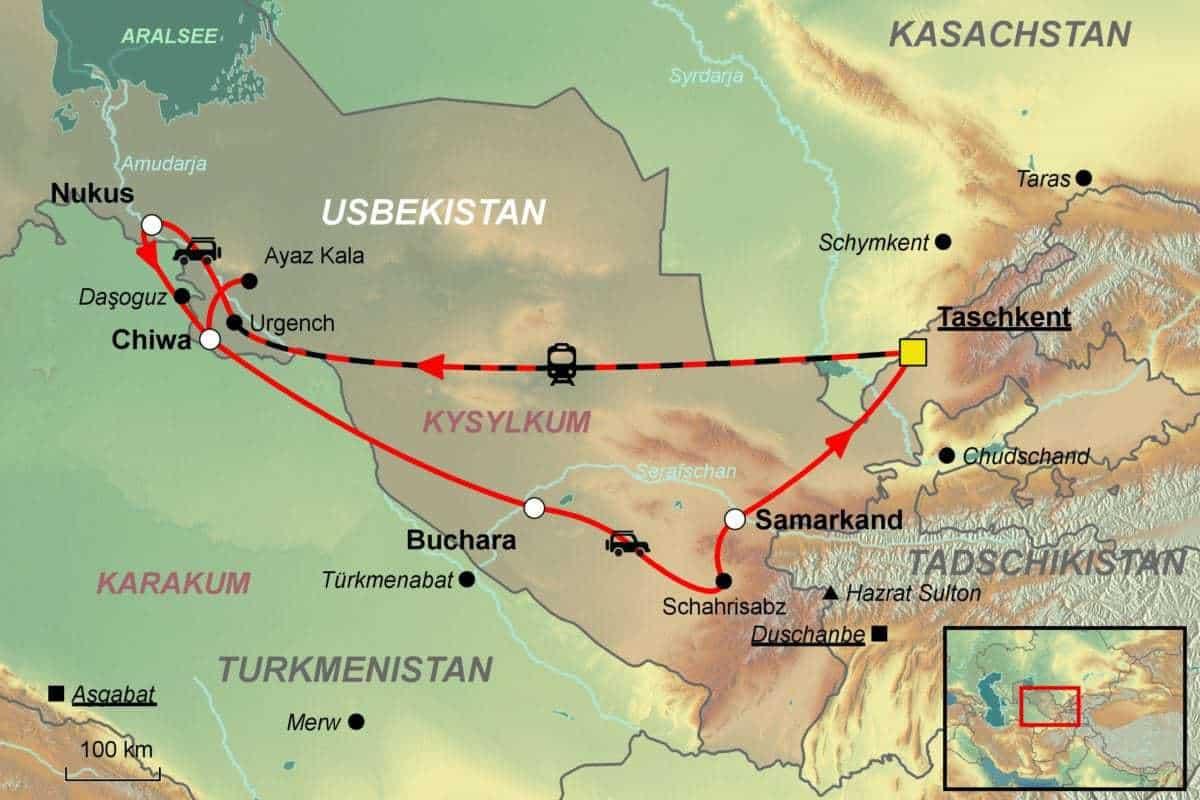 Usbekistan Rundreise - vom Spezialisten Jet Reisen AG